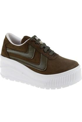 Shalin Kadın Ayakkabı Szr 3201 Yeşil Süet