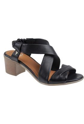 İloz Hakiki Deri Kadın Sandalet Snj 430001 Siyah