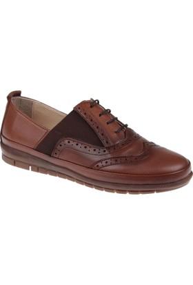 Beety Hakiki Deri Kadın Ayakkabı Bty 6169 Taba