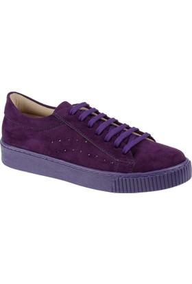Shalin Kadın Sneaker Cd 7010 Mor Süet