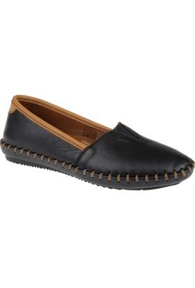 Beety Hakiki Deri Kadın Ayakkabı Bty 302 Siyah