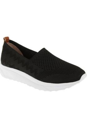 Shalin Kadın Triko Ayakkabı Est T2 Siyah