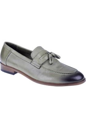 Shalin Hakiki Deri Erkek Ayakkabı Mk 8003 Yeşil
