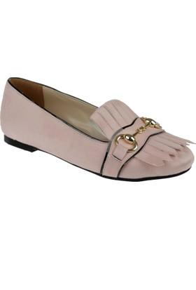 Shalin Kadın Ayakkabı Ag 1030 Pudra Süet