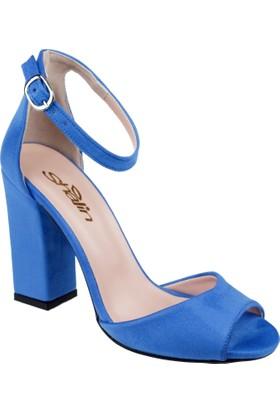 Shalin Kadın Sandalet Pl 101 Mavi Nubuk