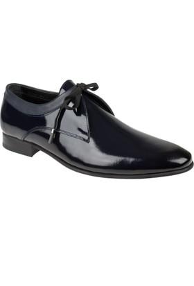 Shalin Hakiki Deri Erkek Ayakkabı Dtc 027 Lacivert Rugan