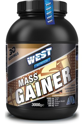 West Nutrition Mass Gainer Karbonhidrat Tozu 3000 gr