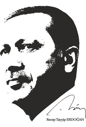 Lucky Wall Sticker Recep Tayyip Erdoğan Duvar Sticker