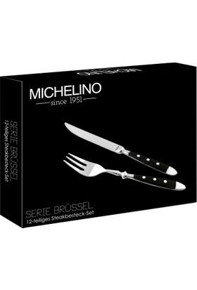 Michelino Çatal Bıçak Seti 12 Parçao Brussel Serisi