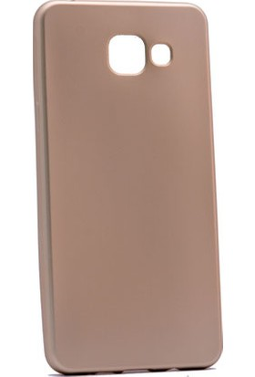 Etabibizde Samsung Galaxy A8 2016 Kılıf Premier Yumuşak Silikon Arka Kapak Gold