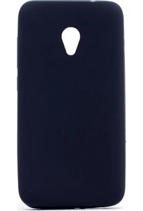 Etabibizde Alcatel U5 Kılıf Premier Yumuşak Silikon Arka Kapak Siyah + Nano Cam