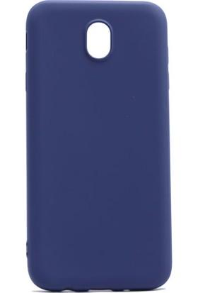 Etabibizde Samsung Galaxy J3 Pro 2017 Kılıf Premier Yumuşak Silikon Arka Kapak Lacivert + Nano Cam