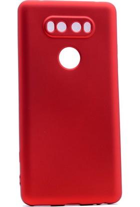 Etabibizde LG V20 Kılıf Premier Yumuşak Silikon Arka Kapak Kırmızı + Nano Cam