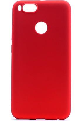 Etabibizde Xiaomi Mi A1 Kılıf Premier Yumuşak Silikon Arka Kapak Kırmızı