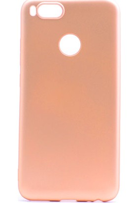 Etabibizde Xiaomi Mi A1 Kılıf Premier Yumuşak Silikon Arka Kapak Gold + Nano Cam