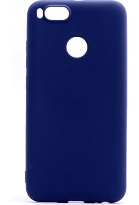 Etabibizde Xiaomi Mi A1 Kılıf Premier Yumuşak Silikon Arka Kapak Lacivert + Nano Cam