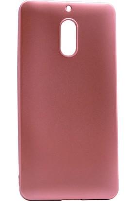 Etabibizde Nokia 6 Kılıf Premier Yumuşak Silikon Arka Kapak Bronz + Nano Cam