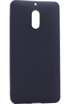Etabibizde Nokia 6 Kılıf Premier Yumuşak Silikon Arka Kapak Siyah + Nano Cam
