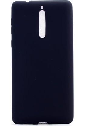 Etabibizde Nokia 8 Kılıf Premier Yumuşak Silikon Arka Kapak Siyah + Nano Cam