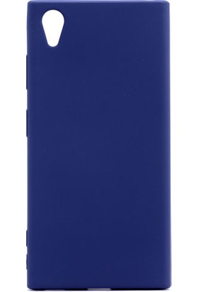 Etabibizde Sony Xperia XA1 Plus Kılıf Premier Yumuşak Silikon Arka Kapak Lacivert + Nano Cam