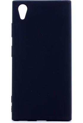 Etabibizde Sony Xperia XA1 Plus Kılıf Premier Yumuşak Silikon Arka Kapak Siyah + Nano Cam