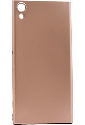 Etabibizde Sony Xperia XA1 Ultra Kılıf Premier Yumuşak Silikon Arka Kapak Gold + Nano Cam