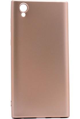 Etabibizde Sony Xperia L1 Kılıf Premier Yumuşak Silikon Arka Kapak Gold + Nano Cam