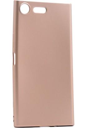 Etabibizde Sony Xperia XZ Premium Kılıf Premier Yumuşak Silikon Arka Kapak Gold + Nano Cam