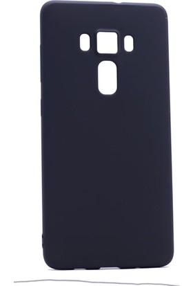 Etabibizde Asus Zenfone 3 ZE552KL Kılıf Premier Yumuşak Silikon Arka Kapak Siyah + Nano Cam