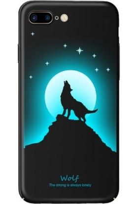 Vendas iPhone 7 Kurt Resimli Siyah Rubber Kılıf