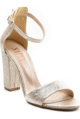 Sapin 26164 Mavi Kadın Topuklu Ayakkabı