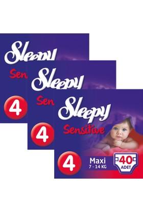 Sleepy Sensitive Bebek Bezi 4 Beden Maxi Jumbo Paket 40X3 120 Adet