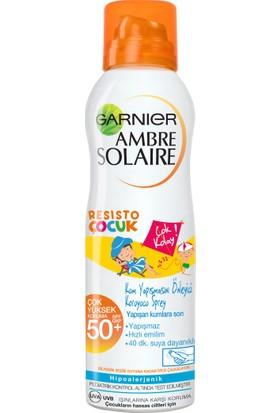 Garnier Ambre Solaire Resisto Kum Yapışmasını Önleyici Koruyucu Sprey GKF 50+ 200ML