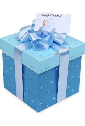 Sepet Diyarı Hediye Doğum Paketi ( Yeni Doğan Erkek Bebek) / Küçük Kutu