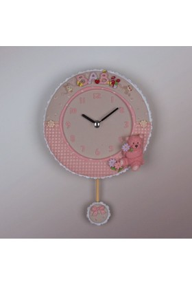 Ultima Regal Renkli Oymalı Kasa, Elişi Boyama Sarkaçlı Saat