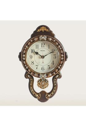 Ultima Regal Mine Süslemeli Ahşap Deseni Sarkaçlı Saatı