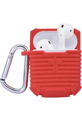 Gpack Apple Airpods Kılıf Askılı ve Kancalı Silikon