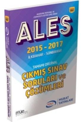 Murat Ales 2015-2017 İlkbahar -Son Bahar Tamamı Orijinal Çıkmış Sınav Soruları Ve Çözümleri