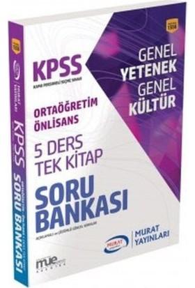 Murat 2018 Kpss Ortaöğretim Ön Lisans 5 Ders Tek Kitap Soru Bankası