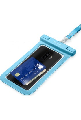 Spigen Universal (Tüm Cihazlarla Uyumlu) IPX8 Sertifikalı Su Geçirmez Kılıf Blue - 000EM23354