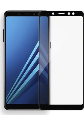 Case 4U Samsung Galaxy A8 Plus 2018 Tam Kaplayan Ekran Koruyucu - Nano Fiber - Siyah