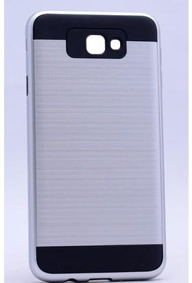 Case 4U Samsung Galaxy J7 Prime Korumalı Kapak Gümüş + Cam Ekran Koruyucu*