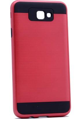 Case 4U Samsung Galaxy J7 Prime Korumalı Kapak Kırmızı + Cam Ekran Koruyucu
