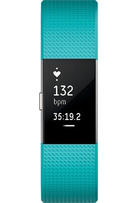 Fitbit Charge 2 Nabız Sensörü + Fitness Bileklik Turkuaz