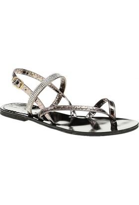 David Jones Kadın Parmak Arası Sandalet Bronz Ayna