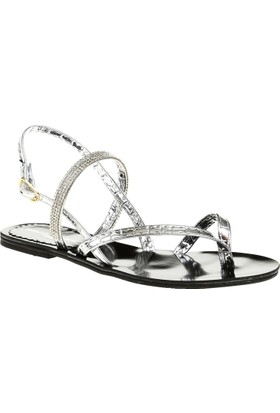 David Jones Kadın Parmak Arası Sandalet Lame Ayna