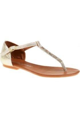 David Jones Kadın Parmak Arası Terlik Sandalet Dore