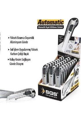 Sgs Alüminyum Gövdeli Maket Bıçağı Sgs160 (24 Adet)