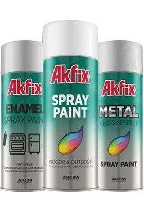 Akfix Akrilik Sprey Boya Ral9005 Parlak Siyah (1 Adet)