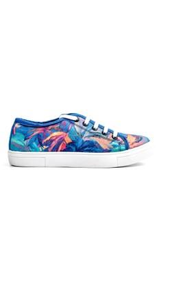 Spenco Kadın Mavi Keten Ayakkabı Z.121